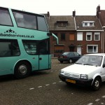Parked outside The Rock Temple in Kerkrade, Netherlands.
